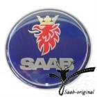 """Колпачок (эмблема) литого диска """"SAAB""""  (серая окантовка) (SAAB 900 / 9-3 / 9-5)"""