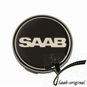 """Колпачок (ЭМБЛЕМА) литого диска чёрного цвета  """"SAAB"""" (образец 2012 года)"""